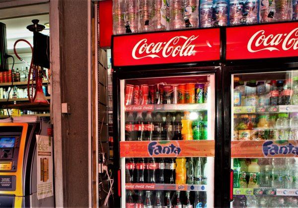 LED ticker screen for Coca-Cola